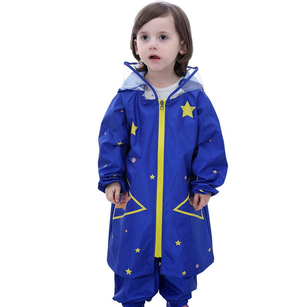 Kids Raincoats, Boys Girls Hooded Rain Poncho Set Waterproof Jacket And Pant Huizhou Weiyitian Trading CO. Ltd