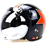 Free Soul Motor Wear Bubble Visor For Open Face Helmets, Silver Fsl-Hv3