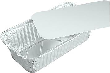 Einlegdeckel Pappe PE beschichtet eckig 0,7 l 20,1x10,5x4,6 cm 500 Schalen Alu