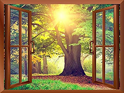 Wall26 - Sunrays Through Beautiful Tree Removable Wall Sticker / Wall Mural - 36
