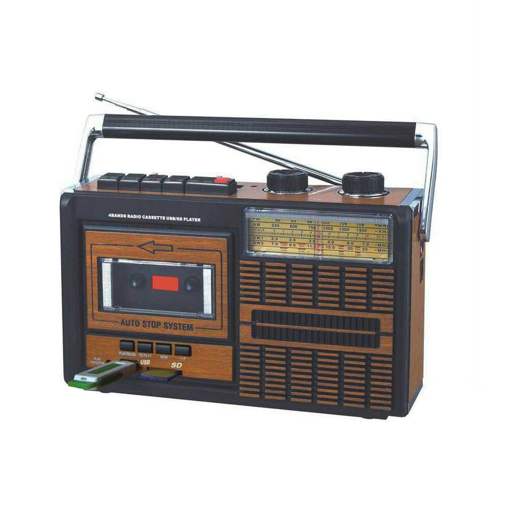 Portable Retro Bluetooth Speakers with Recording Function Tape Drives Built-in AM//FM Radio and USB Cassette Player for Gifts Home Party Camping