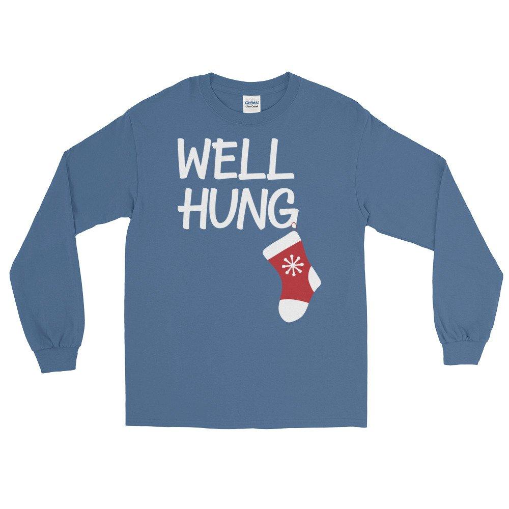 Arkansas Made Well Hung Stocking Funny Christmas Long Sleeve T-Shirt