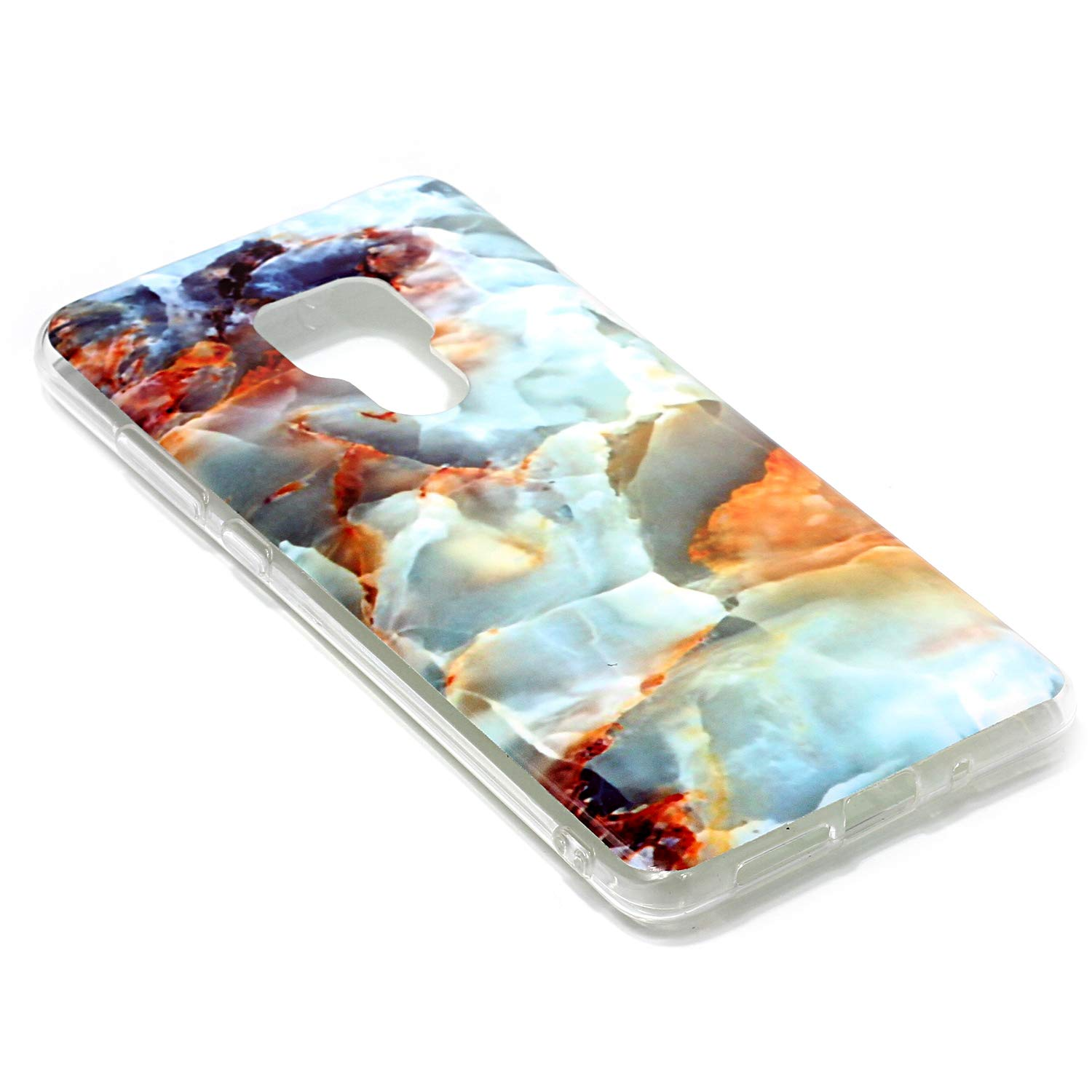 for Huawei Mate 20 Marble Case with Screen Protector,Unique Pattern Design Skin Ultra Thin Slim Fit Soft Gel Silicone Case,QFFUN Shockproof Anti-Scratch Protective Back Cover - Fire Cloud by QFFUN (Image #3)