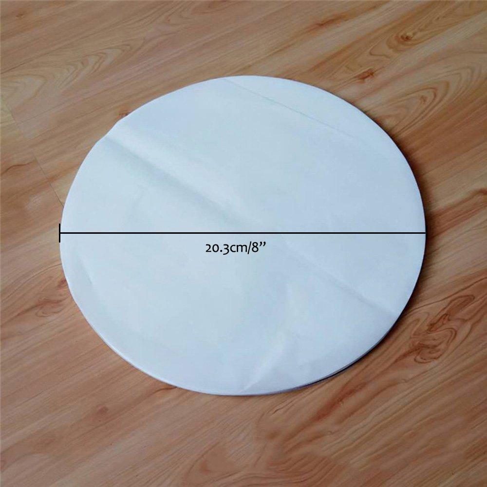 100 PCS Baking Parchment Circles Non-Stick Parchment Paper Baking Paper Circles Liners for Round Cake Pans