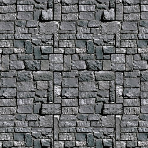Stone Wall Backdrop Party Accessory (1 count) (1/Pkg) (Medieval Party Decorations)