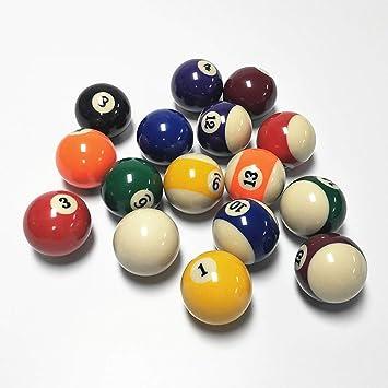 ASports Bola de Billar, tamaño de regulación de Bola de Piscina de 2 1/4 Pulgadas (57.2 mm), Bola Simple,5: Amazon.es: Deportes y aire libre