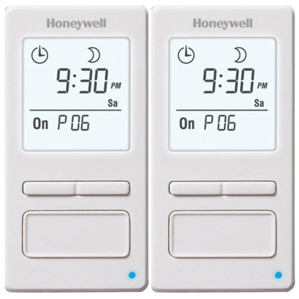 Honeywell 7-Day Solar Programmable Timer for Lights & Motors 2 Pack (RPLS740B1008/U)