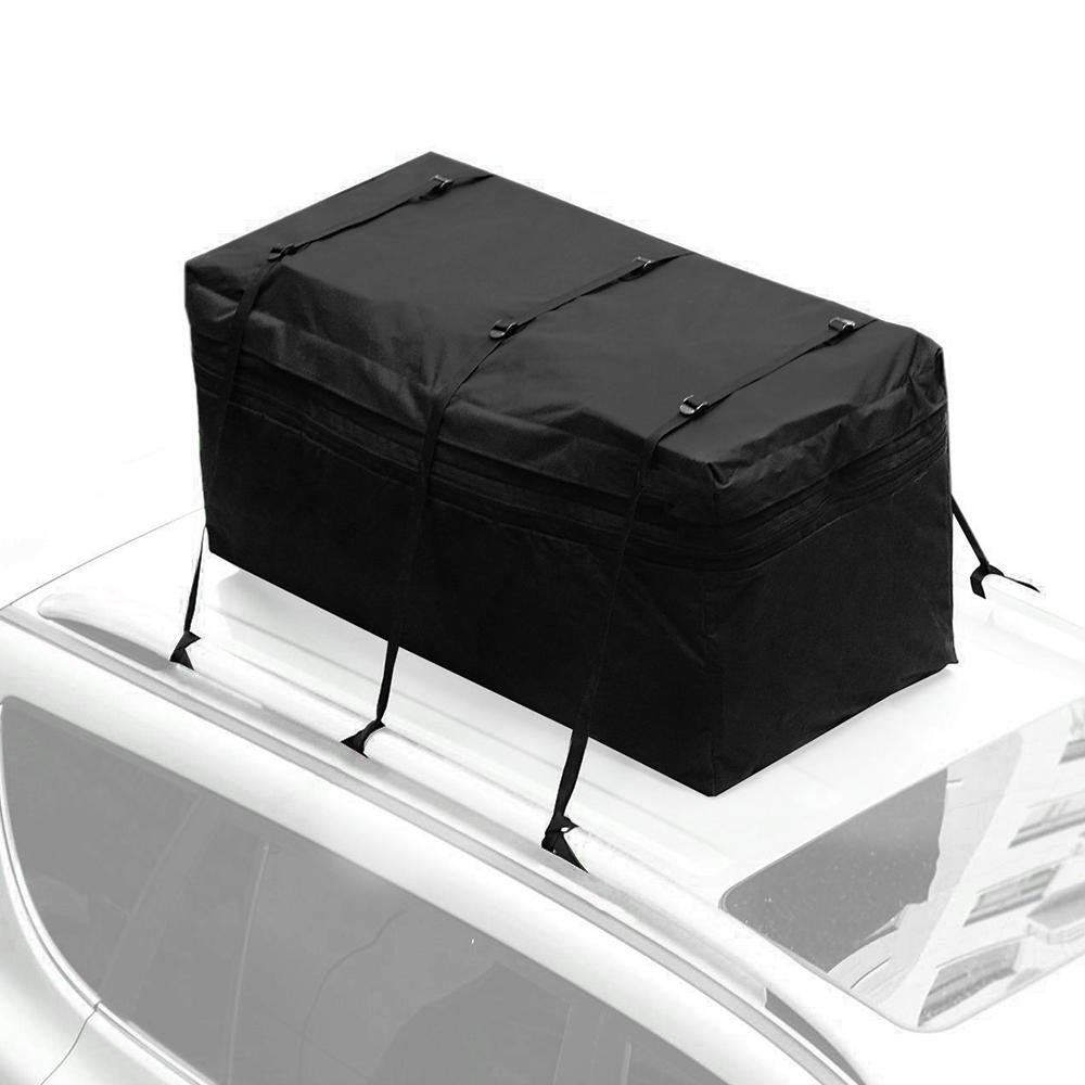 SortWise ® Expandable 15 Cubic Feet Waterproof Weather Resistant Roof Top Hitch Tray Cargo Bag Carrier, Black