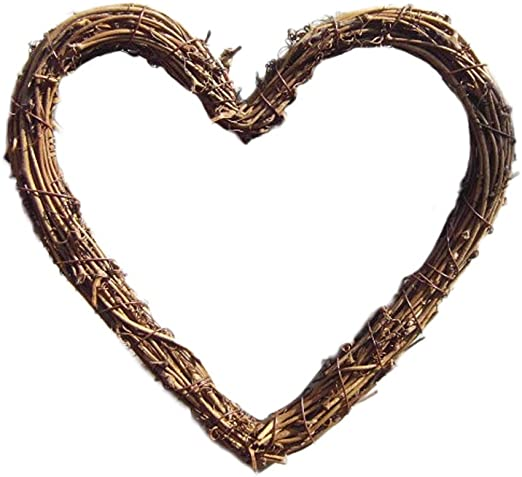 Wicker Gift Wedding Christmas Heart Ornament Home Party Wall Hanging Decor