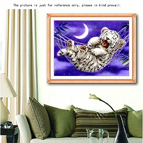 docooler Needlecrafts Cross Stitch Home Decoration- Little Tiger 44 * 33cm