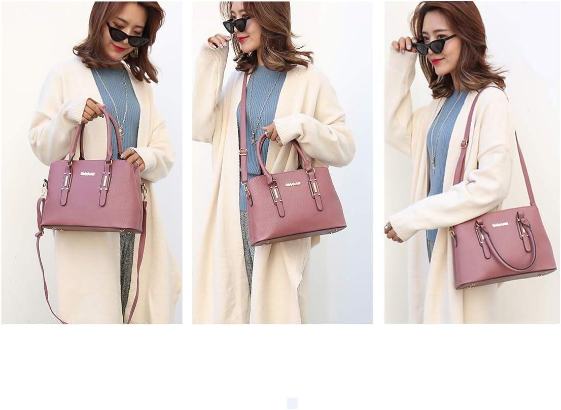 Lianlian Shoulder Bags Borsello in 2 in 1 di Cuoio di Struttura del Litchi delle Donne della Borsa Single-Tracolla Messenger Bag (Grigio) (Colore : Blue) Blue