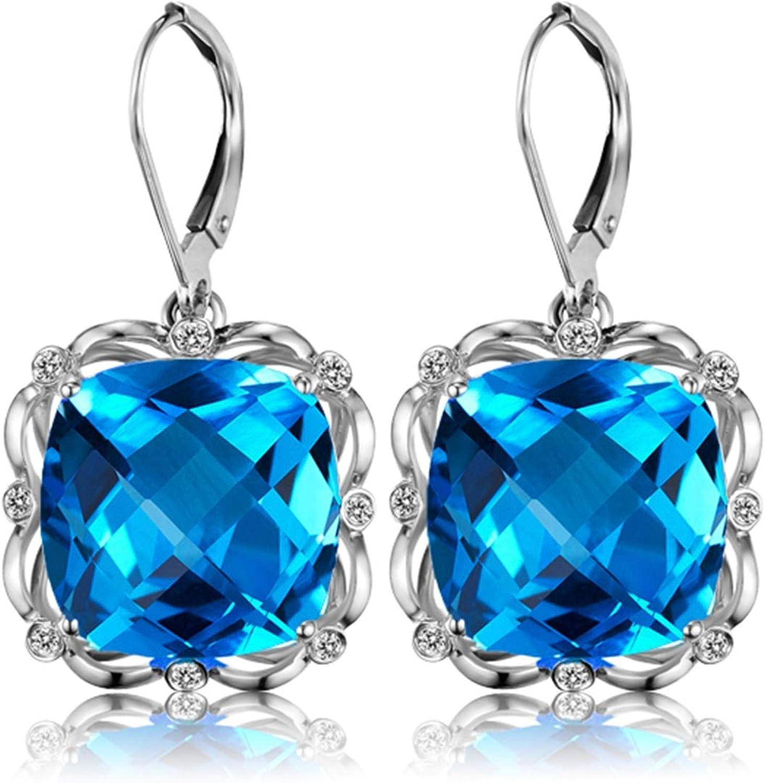 Pendientes de Turmalina Diamantes de 2ct Blisfille Joyería Pendientes Mujer Verdes Pendientes Mujer Bola Pendientes de 18K Oro