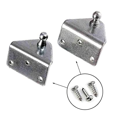 Gas Spring Lift Support Mounting Brackets 10mm Ball Stud - (1 Pair - 10 Millimeter): Home Improvement
