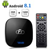 Android TV Box 8.1 A95X F1 Amlogic S905W Quad-Core CPU 2GB RAM 16GB ROM Support 3D 4K and 2.4G WiFi 10/100M Ethernet