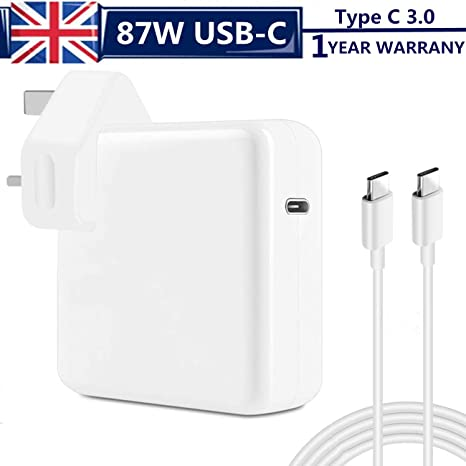 Cargador Adaptador de Corriente USB-C de 87 W, con Cable de ...