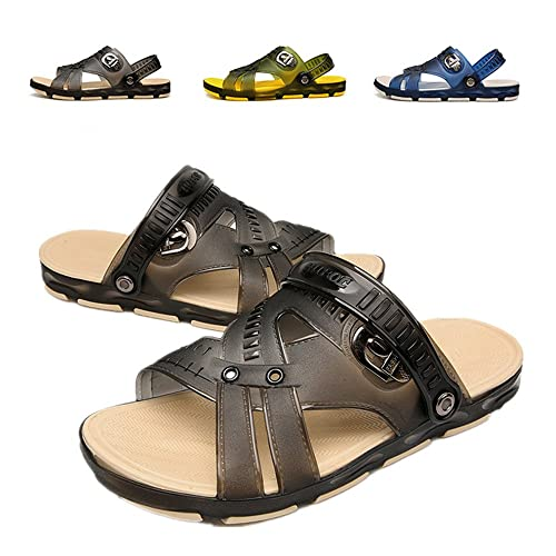 Techcity Unisex Garden Clogs Outdoor Walking Sandals Breathable Sport Slides Summer Non Slip Pool Beach Shower Slippers Shoes