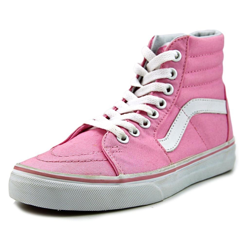 Vans Unisex Sk8-Hi Slim Women's Skate Shoe B01A6250LK 9.5 M US Women / 8 M US Men (Canvas) Prism Pnk/Truwht