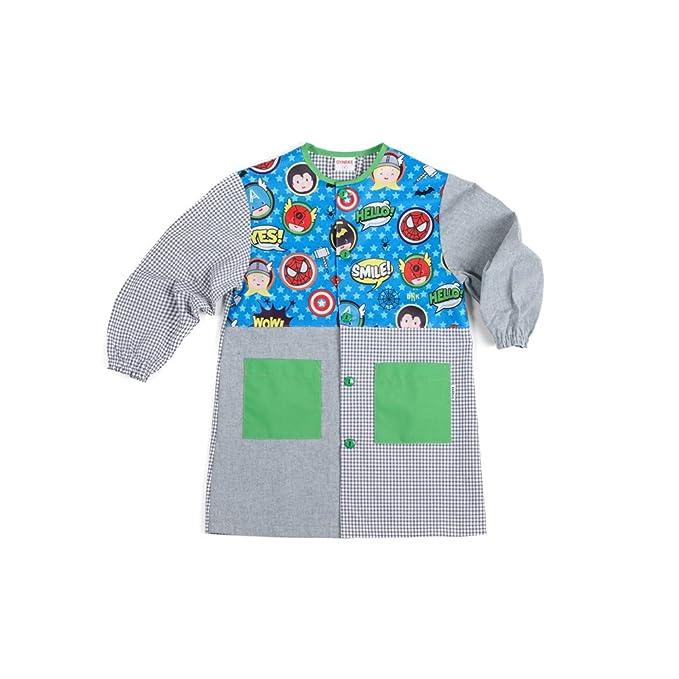 Dyneke Bata escolar botón Heroes Atómicos (personalización opcional gratuita con nombre bordado) (Talla