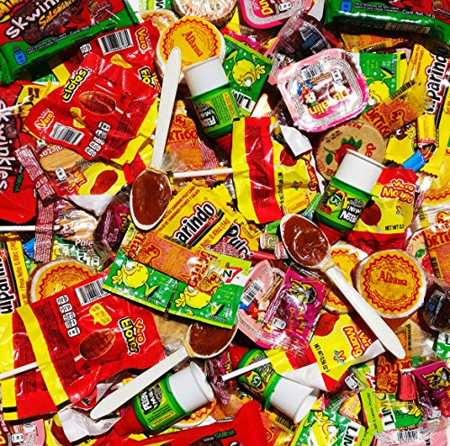 Mexican Candy Mix Box (100 Pieces) Obleas Duvalin Vero Pulparindo Cucharita Pelon Indy