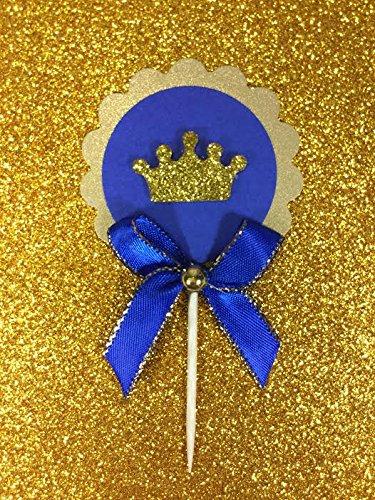 Amazon.com: 24 Deluxe Royal Azul Y Dorado Purpurina Prince ...