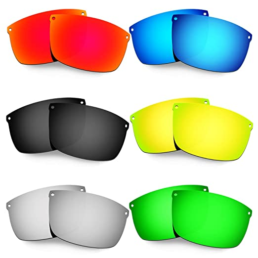 cff479868b4 Amazon.com  Hkuco Mens Replacement Lenses For Oakley Carbon Blade Red Blue Black 24K  Gold Titanium Emerald Green Sunglasses  Clothing