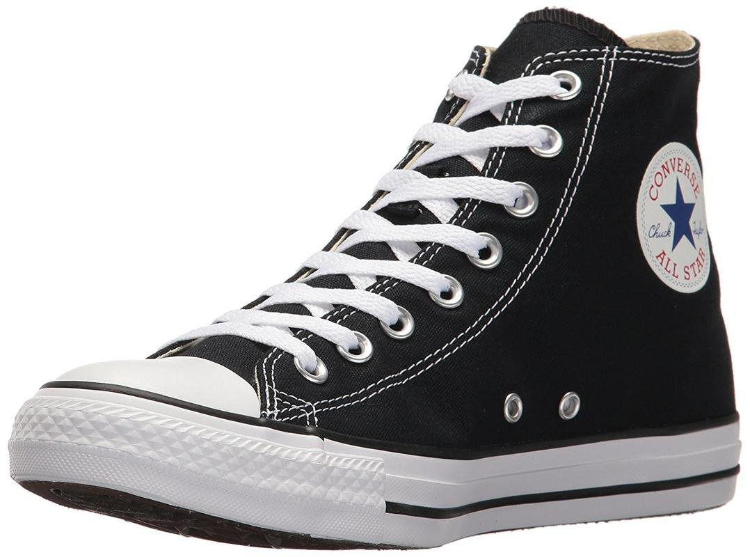 Converse Chuck Taylor All Star Canvas High Top Sneaker, Black, 7.5 US Men/9.5 US Women