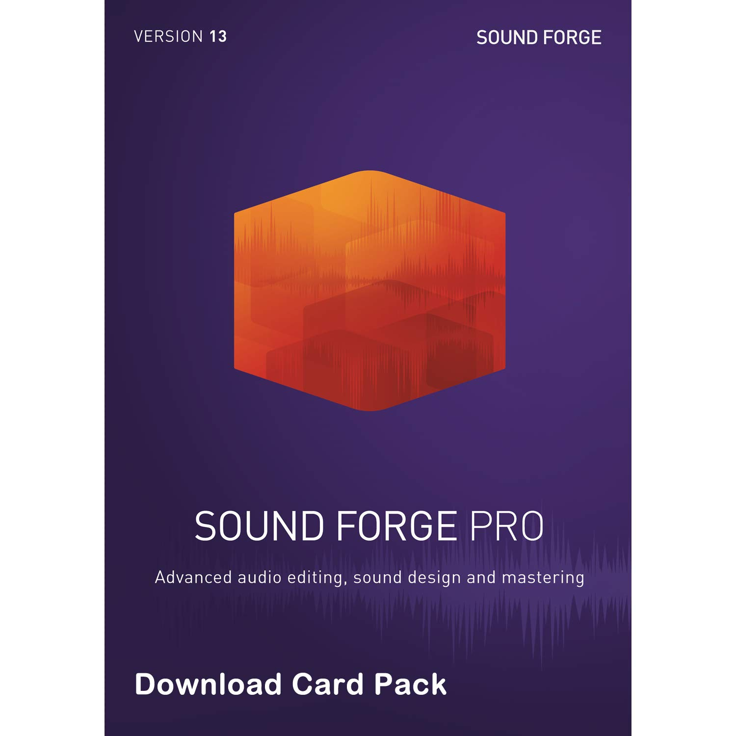 MAGIX Sound Forge Pro 13 [Download Card] - Audio Editing, Recording, Restoration and Mastering by Magix-Genesis