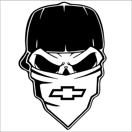 Chevrolet SKULL CAP VINYL Decals Sticker    BUY 2  GET 1  FREE Automatically