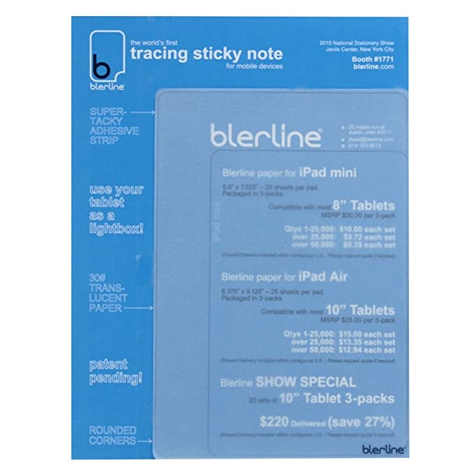 Blerline Tracing Notes 10 Inch 75 Sheets