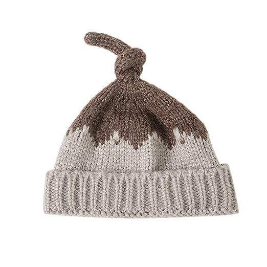 Elegante gorro para bebé, gorra tejida moderna, cálida y suave ...