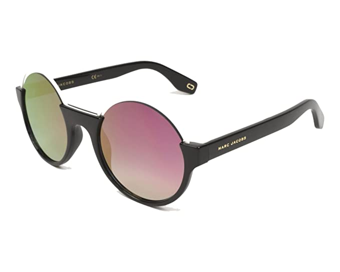 b98fcd967085 Marc Jacobs Metal Brow Round Sunglasses in Black Pink Mirror MARC 302/S 807  51 VQ 51 Pink Mirror Black Pink: Amazon.co.uk: Clothing