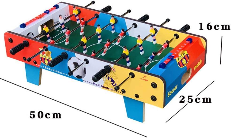 RHSML Tabla de fútbol, fútbol de Madera Mesa de Juego Interior de la Tabla del fútbol fijado para Adultos de los niños aerodinámico Hockey Juego de Mesa para Familia: Amazon.es: Deportes y