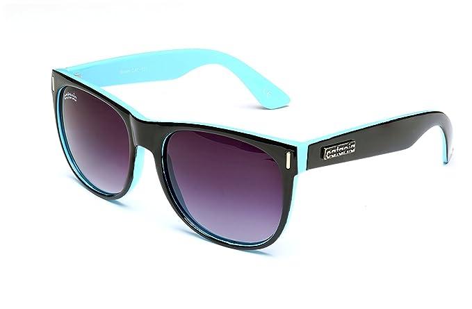 820fa01471 Catania Occhiali Gafas de Sol - Modelo Wayfarer Vintage (UV400) (Negro/Azul