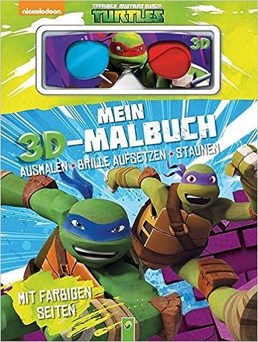 Mein 3d Malbuch Teenage Mutant Ninja Turtles Ausmalen