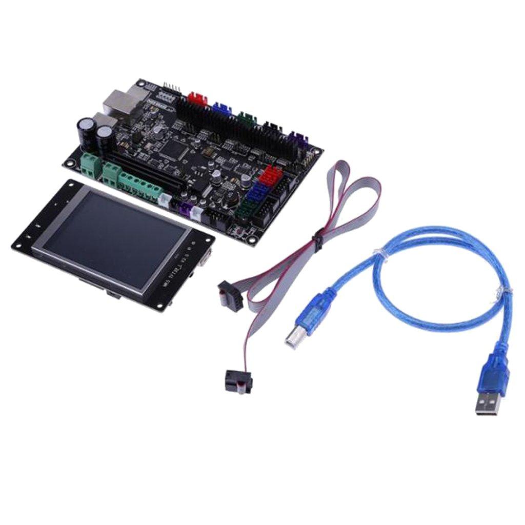H HILABEE Impresora 3D Tablero De Control De Código Abierto De 32 ...