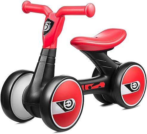 Bicicleta sin pedales Bici Primera Bicicleta para bebés - Regalo de cumpleaños para niños pequeños/niñas/niños de 1 año, 4 Ruedas sin Pedales Bicicletas para Caminar, Negro/Rosa: Amazon.es: Hogar
