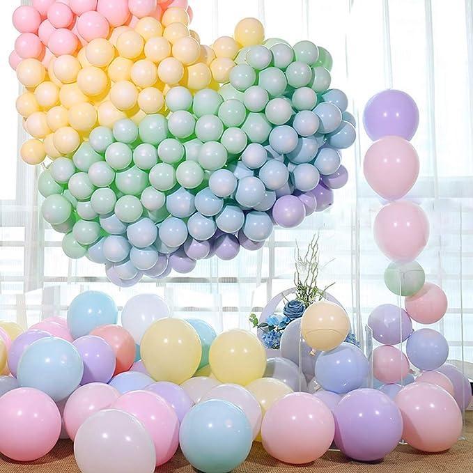 QYY 100pcs Globos Pastel Globos Macaron Pastel Color Globo de Latex para Graduaciones, Fiestas, cumpleaños, día de San Valentín, Decoraciones: Amazon.es: Juguetes y juegos