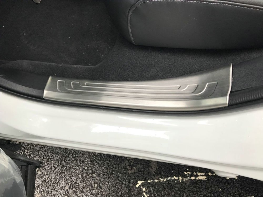 Kate Wenzhou automobile supplies factory Beautost Fit for Honda 2017 2018 2019 CR-V CRV Stainless Steel Inside Door Sill Scuff Plate Guard Cover Trims Silver