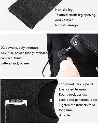 Batterie Nicht im Lieferumfang enthalten Waschbarer USB-elektrisch beheizter thermischer Langarm-Rundhalspullover KAXI Mannisolierter Heizpullover 6 Heizzonen