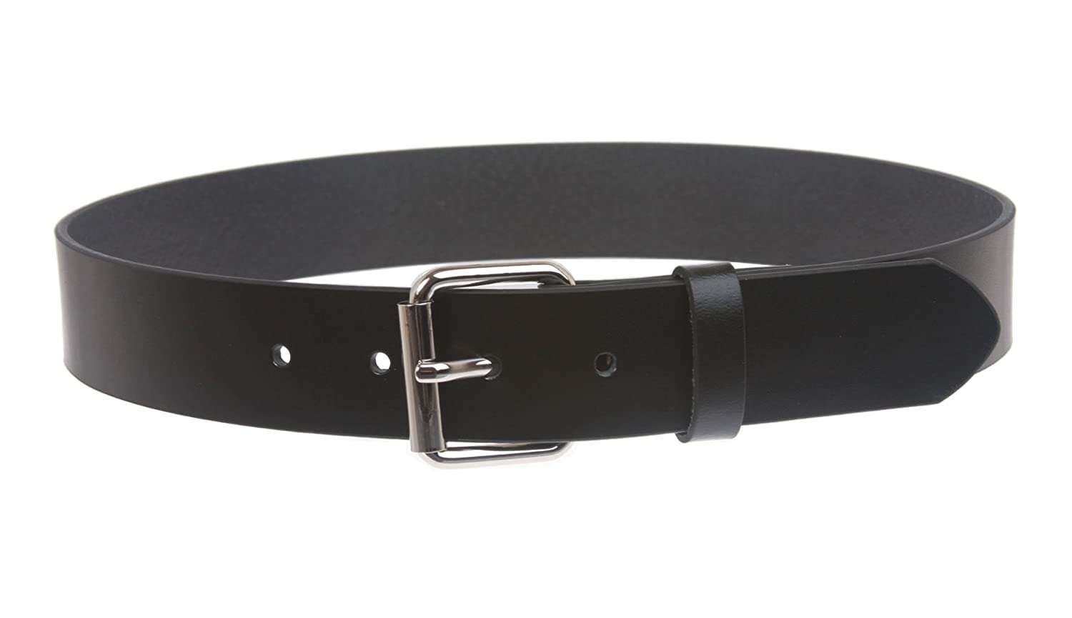 28 Inch Black Kids or Extra Small Size Snap On Plain Leather Belt