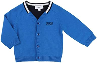 Hugo Boss Kids Boys Cotton Cardigan Sweater 12 Months