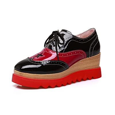 1TO9 Womens Fashion Round-Toe Wedges Assorted Color Platform Leather Loafers Shoes MMS04985