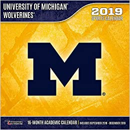 Michigan Calendar 2019 University of Michigan Wolverines 2019 Calendar: Inc. Lang