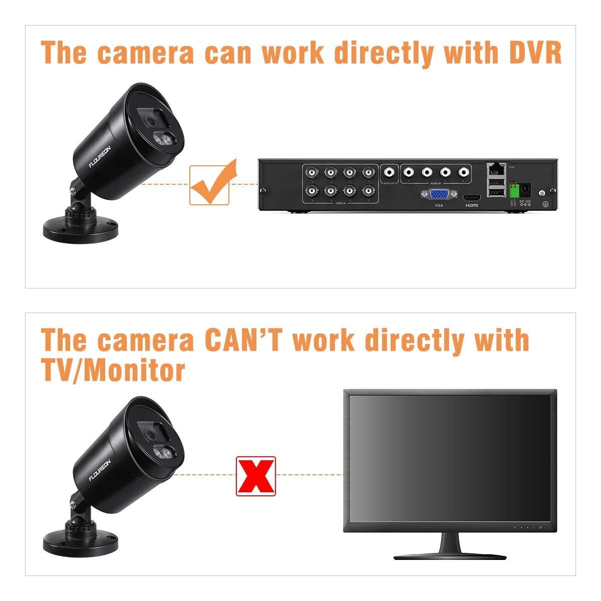 CCTV C/ámara Bala1080P 4-en-1 24H Luces c/álidas a Todo Color C/ámara de Seguridad Bullet C/ámara de luz Ultra Baja IP66 Resistente a la Intemperie PAL