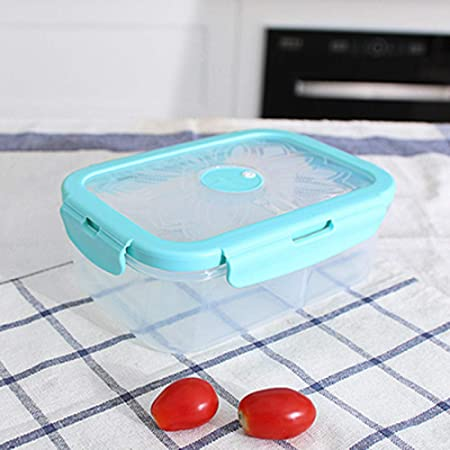 YKSSFFF Lonchera de plástico Un Compartimento Cuatro Botones ...