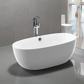 KIVA RHYME 67 Freestanding Bathtub 100 Pure Acrylic Soaking