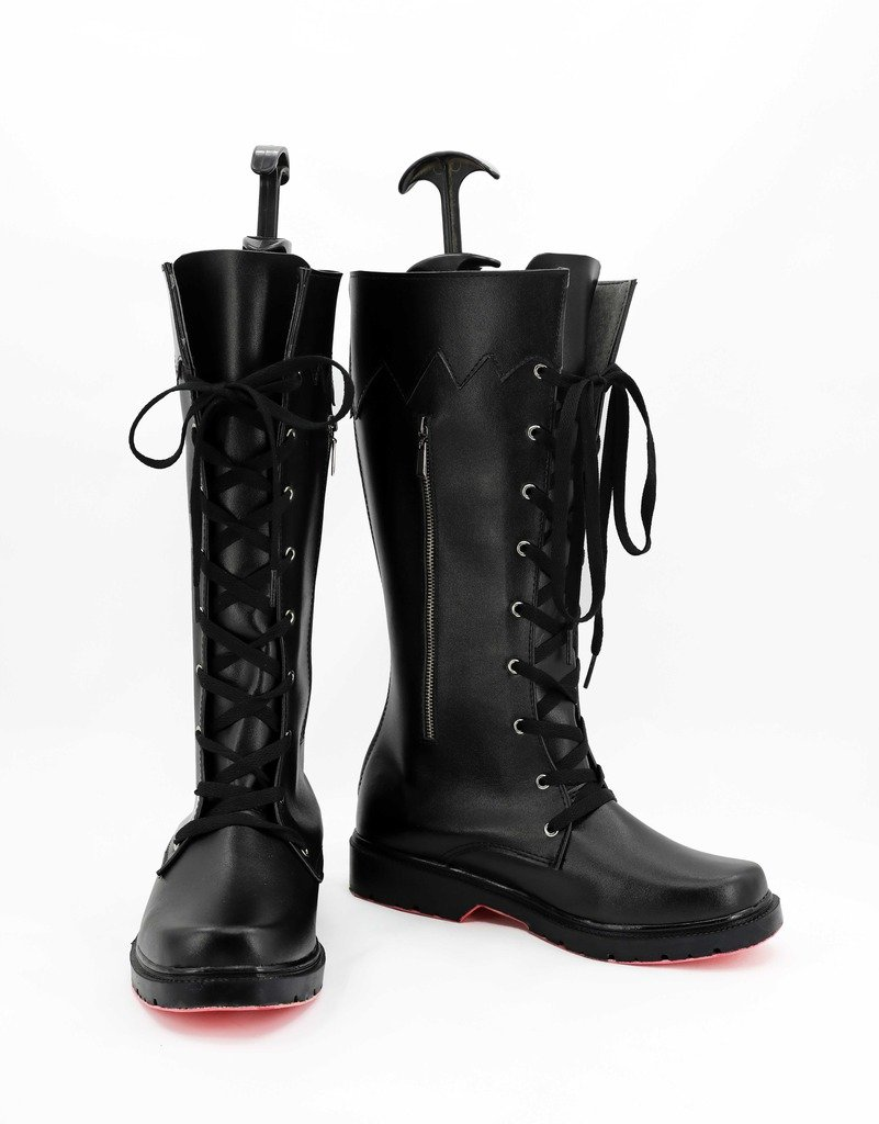 Telacos Final Fantasy XV Noctis Lucis Caelum Cosplay Shoes Boots Custom Made Red Outsole