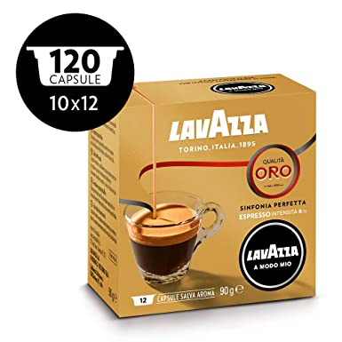 Lavazza A Modo Mio 12 Cápsulas de café Oro (Pack DE 10): Amazon.es ...