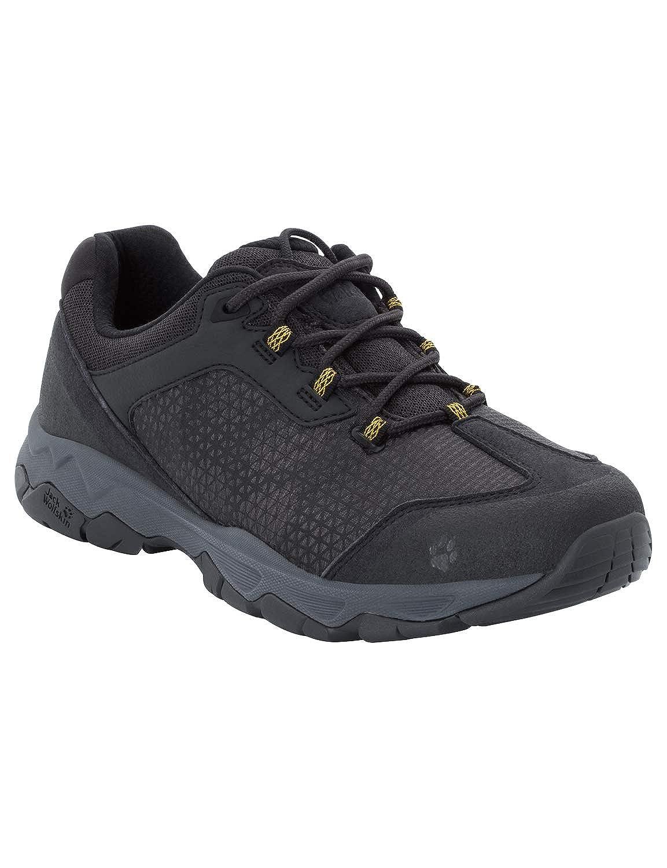 Noir (Burly jaune Xt 3802) 48 EU Jack Wolfskin Rock Hunter Faible M, Chaussures de Randonnée Basses Homme