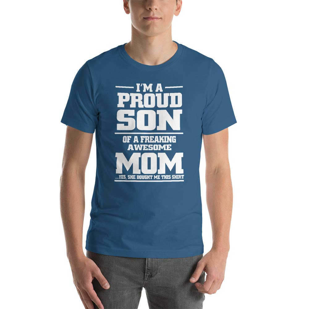 Short-Sleeve Unisex T-Shirt Im A Proud Son of A Freaking Awesome MOM